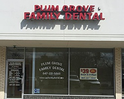 Outside view of Plum Grove Family Dental Care