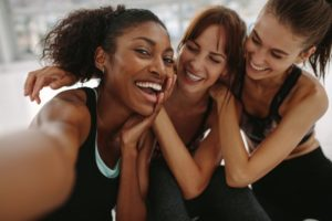 Group of happy, healthy women
