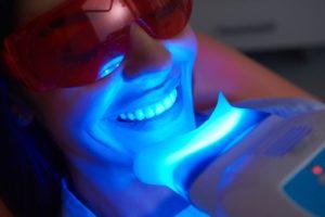 woman getting teeth whitening in Rolling Meadows